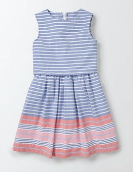 Klein Blue/Rosehip Stripe Iris Dress