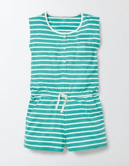 Soft Jade/Ivory Stripe Abigail Playsuit