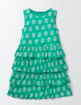 Soft Jade Woodblock Vanda Dress