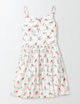 Fluro Ivory Birds of Paradise Millicent Dress