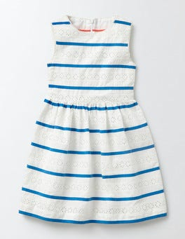 Ivory Stripe Pascale Dress