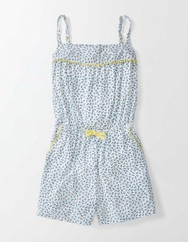 English China Summer Berry Woven Romper