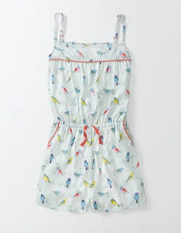 Azure Mist Birds of Paradise Woven Playsuit