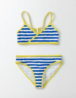 Noble Blue/Ivory Stripe Fun Bikini Set