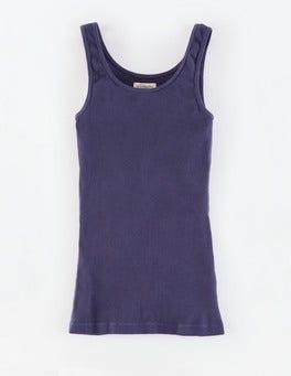 Navy Slim Rib Vest