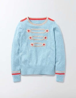 Mineral Blue Marl Rose Jumper