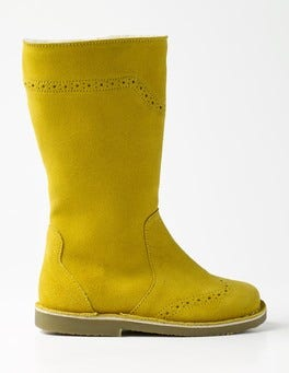 Sunshine Yellow Tall Leather Boots