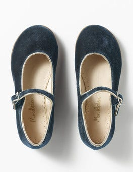 Navy Party-Spangenschuhe