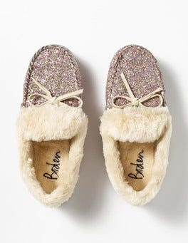 Multi Glitter Glitter Slippers