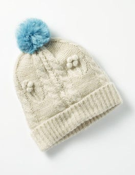 Ecru Cable Beanie Hat