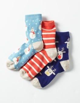 Festlich Weihnachtliche Socken im 3er-Pack