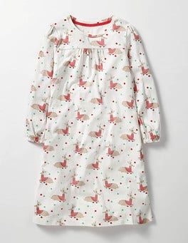 Ivory Reindeer Printed Nightie