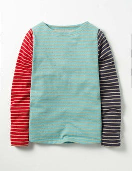 Frost Blue/Gold Sparkly Striped T-shirt