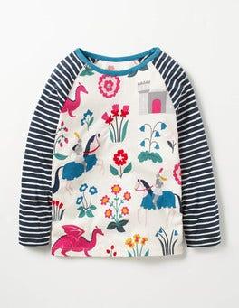 Ecru Lady Floralot Hotchpotch Raglan T-shirt