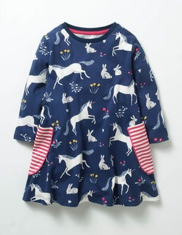 School Navy Enchanted Meadow Printed Tunic