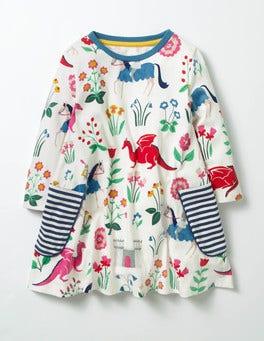 Ecru Lady Floralot Printed Tunic