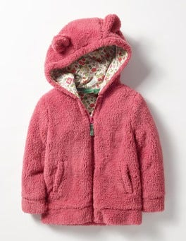 Rose Blossom Pink Cosy Teddy Hoodie