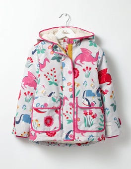 Shale Grey Lady Floralot Sherpa-lined Anorak