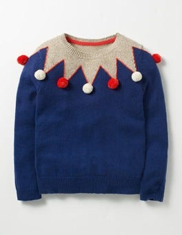 Dark Blue Sparkly Detail Jumper