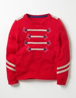 Rosehip Red Sparkly Detail Jumper