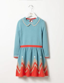 Frost Blue Sparkly Knitted Dress