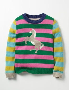 Blossom Pink/Green Unicorn Sparkly Fairytale Sweater