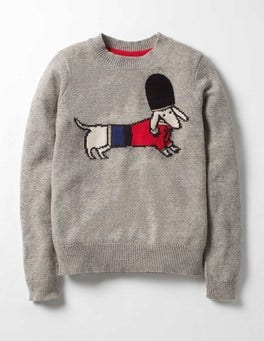 Grey Marl Dog Royally Good Jumper