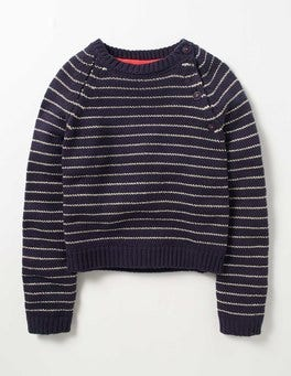 Navy/Gold Sparkle Stripe Sweater