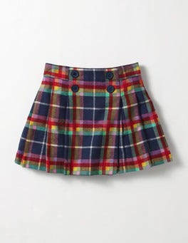 School Navy Rainbow Check Check Kilt