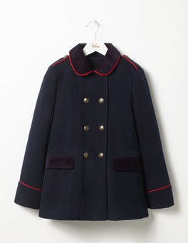 Navy Military Wool Coat