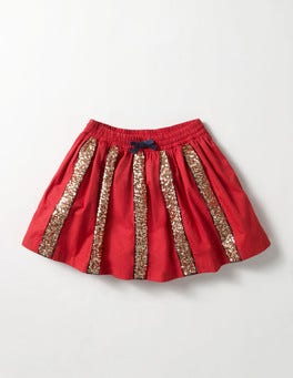 Ladybird Red Sequin Skater Skirt