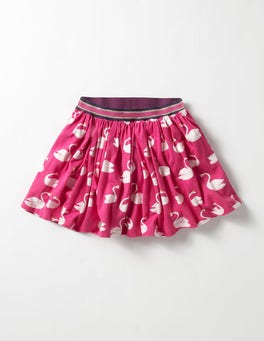 Party Pink Magical Swans Party Jersey Skirt
