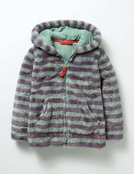 Csarite Green/Misty Purple Teddy Zip-up Hoodie