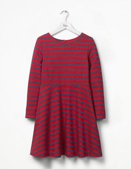 Ladybird Red/Blue Lurex Sparkly Stripe Party Dress