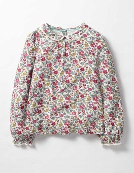 Rose Blossom Wild Berry Multi Pretty Woven Top
