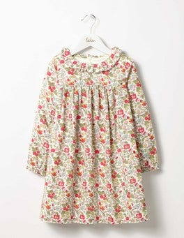 Honeysuckle Wild Berry Multi Ruffle Collared Dress