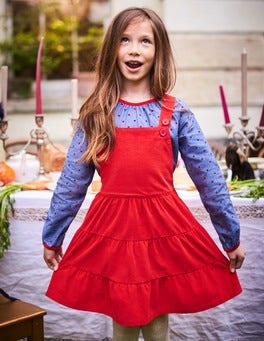 Twirly Cord Dungaree Dress