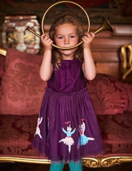 Velvet Tulle Dress