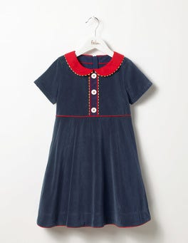 Navy Velvet Party Dress