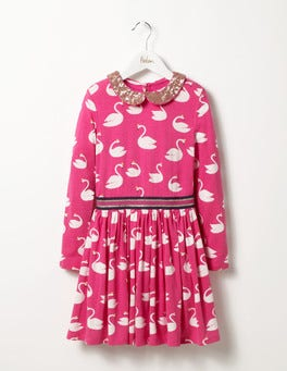 Party Pink Magical Swans Party Jersey Dress