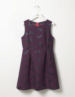 Blackcurrant Purple Unicorn Unicorn Jacquard Party Dress