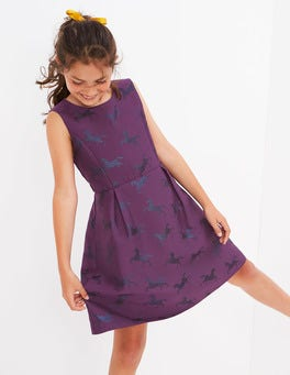 Unicorn Jacquard Party Dress