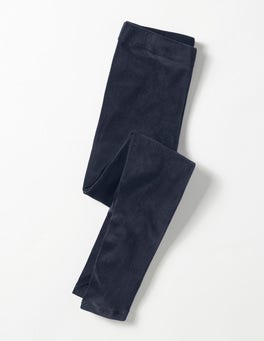 Mini Navy Velvet Leggings