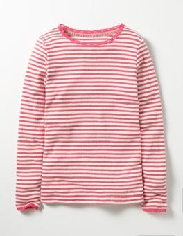Honeysuckle Pink Sparkly Pointelle T-shirt
