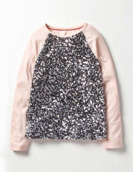 Provence Dusty Pink Sequin Raglan T-shirt