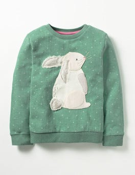Csarite Green Bunny Fluffy Friends Sweatshirt