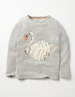 Lavender Grey Swan Fairytale Sequin T-shirt