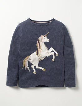 Misty Purple Unicorn Fairytale Sequin T-shirt