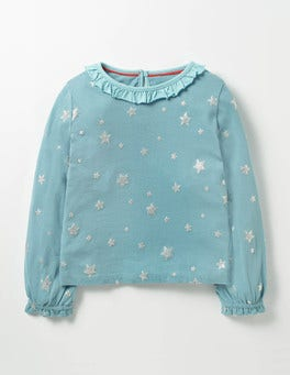 Frost Blue Stars Sparkly Star T-shirt