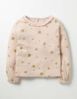 Provence Dusty Pink Stars Sparkly Star T-shirt